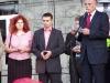 Parlamentu Marek Borowski . W tle, w różowej koszuli moja skromna osoba,oczywiście ta z krótkimi ciemnymi włosami.
